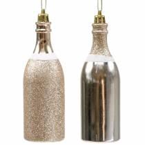 Champagne flaske til at hænge lys guld 10stk