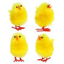 Chenille chick 4cm gul 4stk