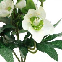 Juleroser hvide dekorative buket kunstige blomster Julearrangement 27cm