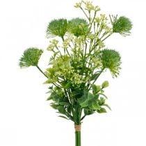 Silkeblomster, kunstig buket, blomsterdekoration med tidsel 40cm