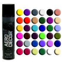 Farve spray silke mat forskellige farver 400ml
