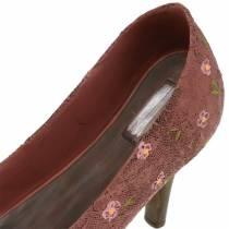 Plantesko pumpe til deco sko brun 24cm × 8cm H13.6cm