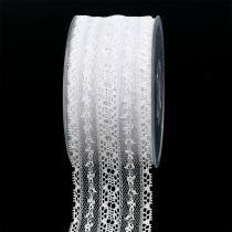 Dekorativ tape snøre 55mm 20m hvid