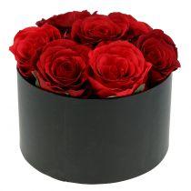 Blomsterkasse roseboks sort rund Ø18cm - Ø20cm 2stk