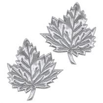 Dekorative blade lavet af silke 5cm sølv 60p