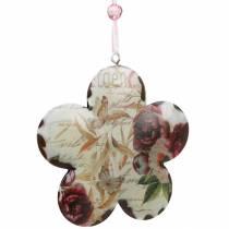 Dekorativ blomst til hængende pæoner nostalgisk metal fjeder dekoration 4stk
