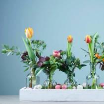 Dekorativ flaske blomstervase Ø7.5cm H13.5cm klar 6stk