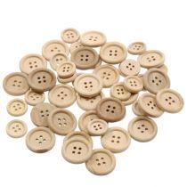 Dekorative knapper naturlige 1,5 cm - 2,5 cm 150p