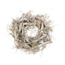 Dekorativ krans natur, grå Ø35cm 1p
