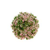 Dekorativ kugle lyserød-grøn Ø12cm 1p