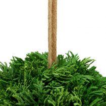 Kunstig plantekugle til hængende grøn Ø20cm