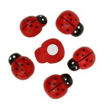 Dekorativ marihøne til at klæbe 1,5 cm rød 360p