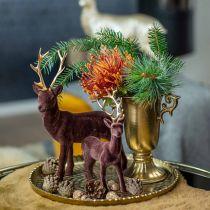 Dekorativ kop med håndtag gyldne Ø11cm H17.8cm antikt look