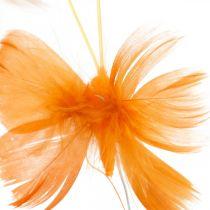 Sommerfugle i orange toner, foråret dekoration foråret sommerfugle på en tråd 6stk