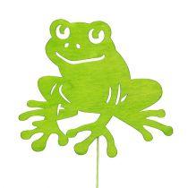 Dekorativ prop frøgrøn 7 cm - 10 cm 12stk