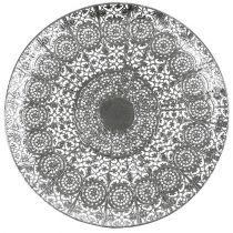 Dekorativ plade sølv med motiv Ø35cm