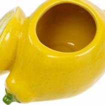 Dekorativ gryde citronvase citrusfrugt keramisk sommerdekoration