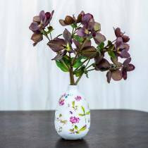 Dekorativ vase hvid blomster Ø11cm H17.5cm