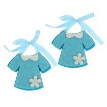Fødselsdekoration filtkjole blå 7cm 20stk