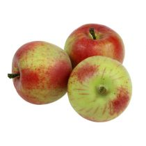 Dekorativ æble rød, grøn Ø6cm 6stk