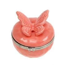 Dekorativt tin med sommerfugllaks Ø6cm H6cm