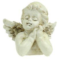 Dekorativ engle-bøncreme 9 cm 8stk