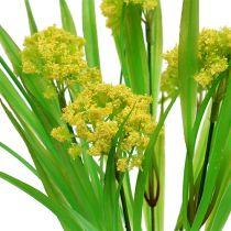 Dekorativt græs med blomster gul, grøn L30cm