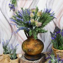 Deco kande antik look vase vintage metal haven dekoration H26cm