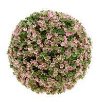 Dekorativ kugle lyserød-grøn Ø20cm