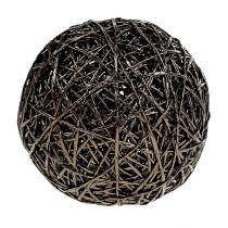 Dekorativ kugle mørkebrun Ø15cm