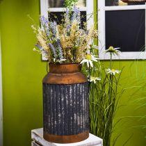 Deco mælkekande vintage look metalplanter have dekoration H35cm
