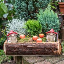 Deco alf keramisk champignon hat borddekoration rød, hvid H10.5cm 3stk