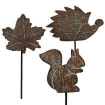 Blomsterstift 5cm - 6cm efterårsmotiver 12stk