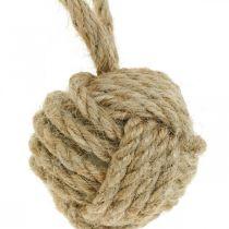 Dekoration til at hænge Tauball jute natur Ø5,5cm 3stk