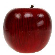 Dekorative æbler røde, lakeret Ø8cm 6stk