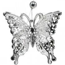 Dekorativt vedhæng sommerfugl, bryllupsdekoration, metal sommerfugl, forår 6stk