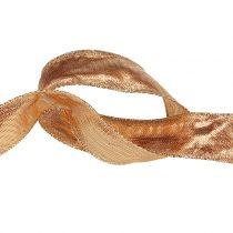 Dekorativt båndguld med trådkant 25m