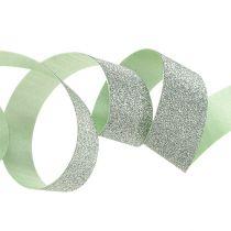 Dekorativ tape lysegrøn med glimmer 10mm 150m
