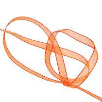 Dekorbånd orange med prikker 7mm 20m