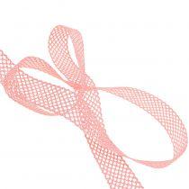 Dekorativt bånd kniplinger 21mm 20m lyserød