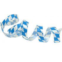 Dekorativ tape blå-hvid 5mm 250m