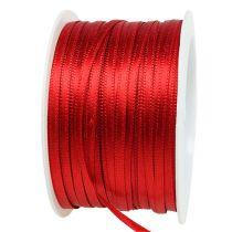 Gave- og dekorationsbånd 3mm x 50m lys rød
