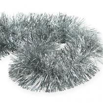 Tinsel krans sølv 2m