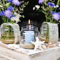 Dekorationsglas, blomstervase, glaslygte, borddekoration Ø10cm H10cm 6stk