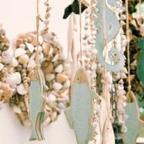 Dekorativt hængende træfiskgrønt 18 cm eller 24,5 cm 2stk