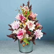 Kunstig blomst dahlia syrin 63 cm