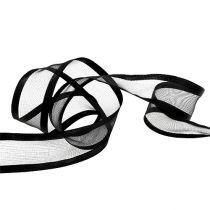 Dekorativt bånd sort 40mm 25m
