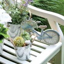 Deco skilt træ cykel sommer deco skilt til at hænge blå, hvid 31 × 25cm