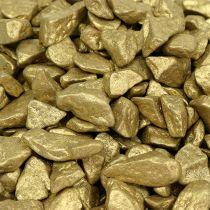 Dekorative sten 9mm - 13mm 2kg gul guld