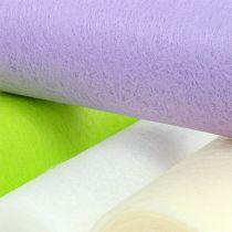 Dekorativ fleece bordløber 23 cm farvet 25m